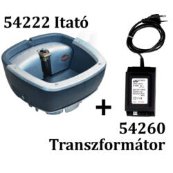 Fűtött itató, szelepes + Transzformátor, 100 VA, 80 W