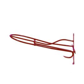 Műanyag borítású fém nyeregtartó, piros színben
