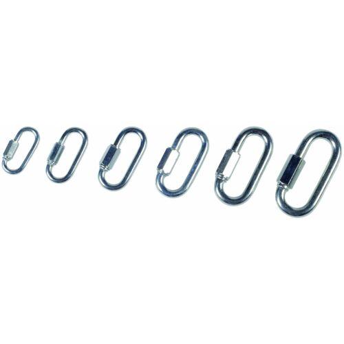 Gyorskapocs láncokhoz, vastagság: 6 mm, 10 db