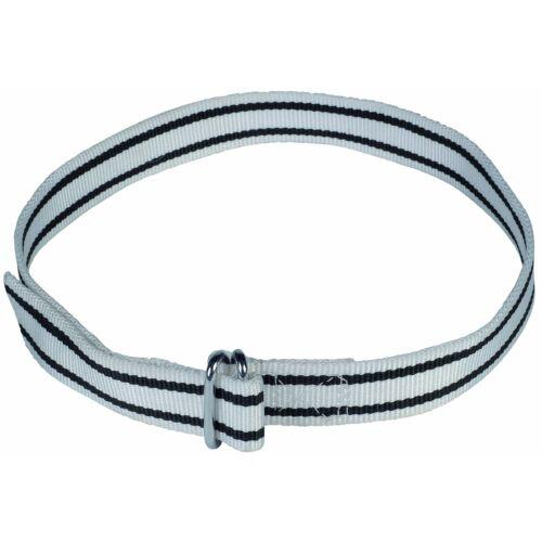 Azonosító nyakörv, fekete/fehér, 120 cm