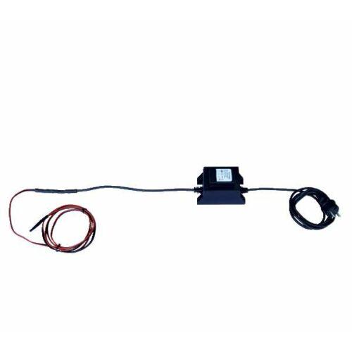 Fagyásmentes fűtő kábel, átalakítóval 230 V/12 V, 3.2 m