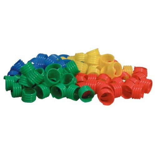 Baromfi lábgyűrű, piros, Ø 18mm