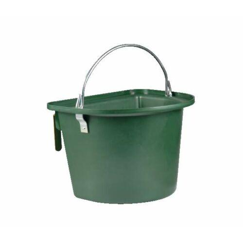 Hordozható vödör, 14 literes, akasztóval és füllel, sötétzöld