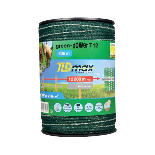GREEN POWER sötétzöld 12 mm-es szalag