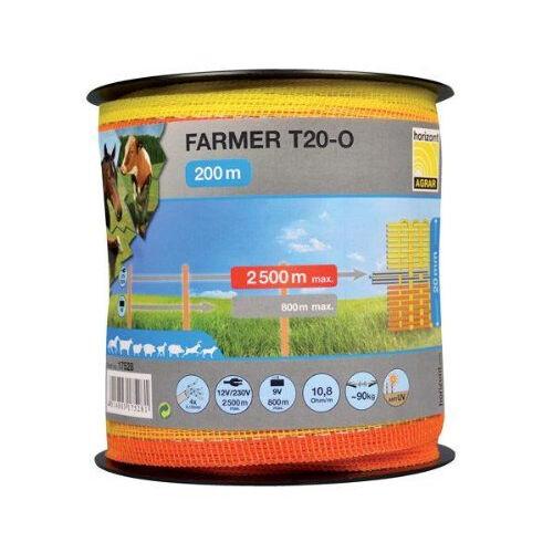 FARMER T20-O, narancssárga/sárga, 20 mm-es szalag