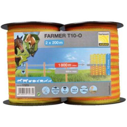 FARMER 10mm-es szalag dupla csomagban, narancssárga
