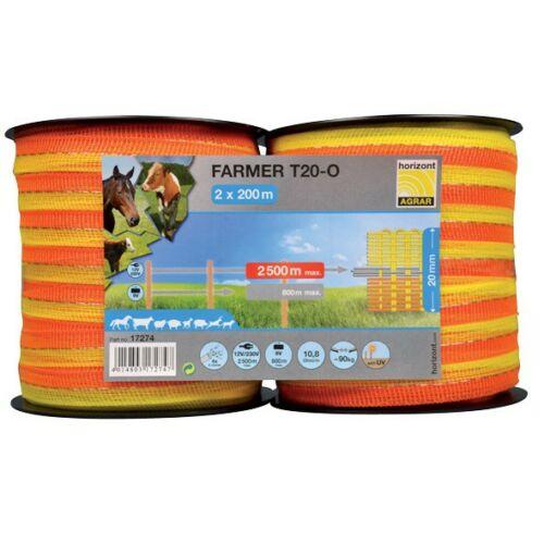 FARMER 20mm-es szalag dupla csomagban, narancssárga