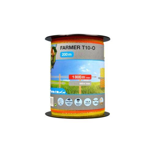 FARMER T10, narancssárga/sárga, 10 mm-es szalag