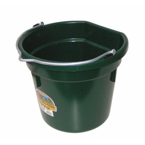 Lapos hátú vödör, műanyag, 20 literes, sötétzöld