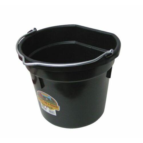 Lapos hátú vödör, műanyag, 20 literes, fekete