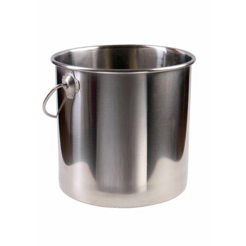 Rozsdamentes acél vödör, 8 literes