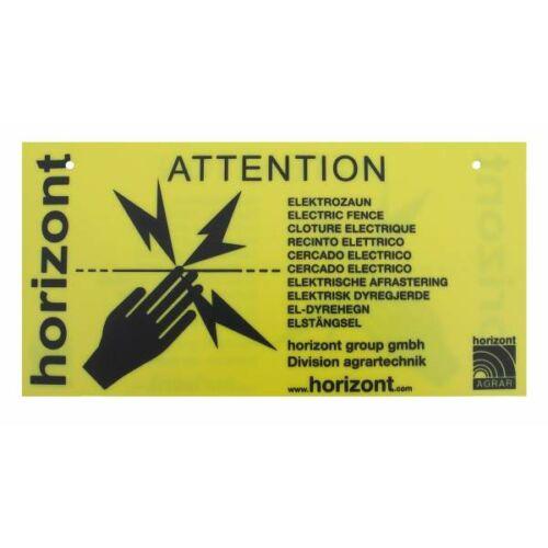 """Nemzetközi figyelmezető jelzés """"Caution electric fence"""", 4 db"""