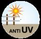 Die Kunststoffe dieses Produktes werden mit einem hohen UV-Stabilisator verarbeitet