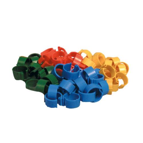 Kapcsos baromfi lábgyűrű, vegyes színekben, Ø 12mm