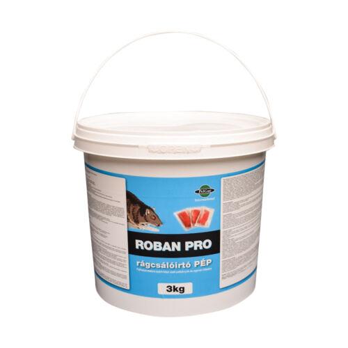 Patkányméreg nagyüzemi felhasználásra PÉP 3 - 5 kg kiszerelésben Roban Pro 25