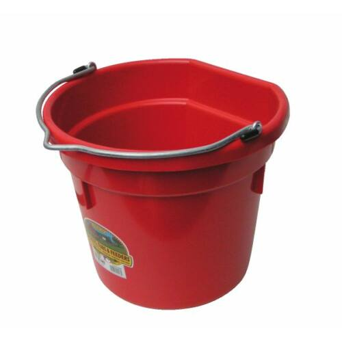 Lapos hátú vödör, műanyag, 20 literes, piros