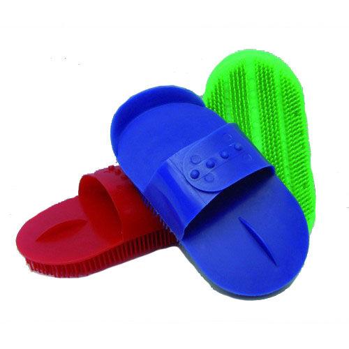 Műanyag lóvakaró, zöld
